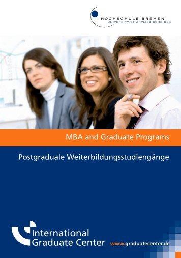 Postgraduale Weiterbildungsstudiengänge MBA and Graduate ...