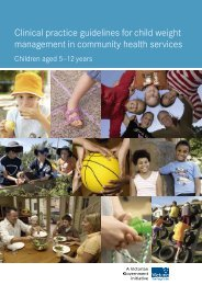 Clinical practice guidelines for child weight management in ...