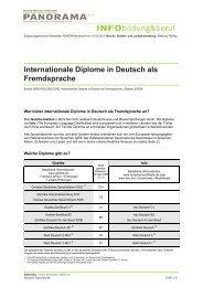Internationale Diplome in Deutsch als Fremdsprache - Panorama