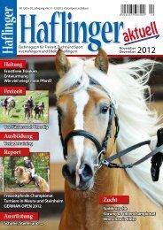 November/Dezember 2012 - Haflinger aktuell