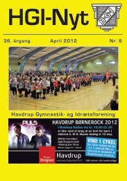 36.årgang - april 2012 - nr. 6 - HGI Nyt