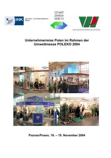 Unternehmerreise Polen im Rahmen der ... - hessen-polen.de