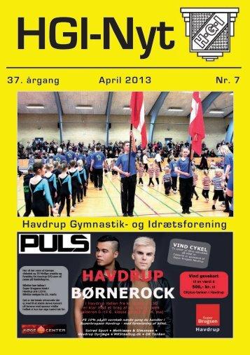 37.årgang - april 2013 - nr. 7 - HGI Nyt