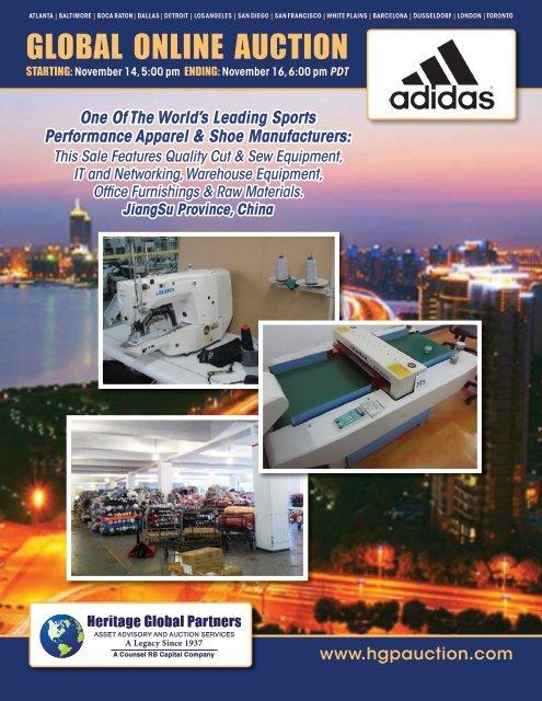 sewing machines - Liquidation Auction - Equipment Auctions  HGP