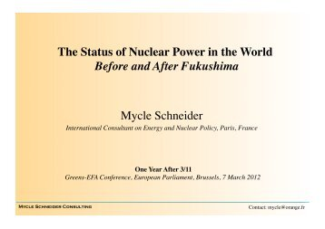 The Status of Nuclear Power in the World - The Greens | European ...