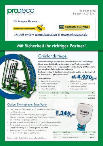 Mit Sicherheit ihr richtiger Partner! - Handelshof Landtechnik GmbH