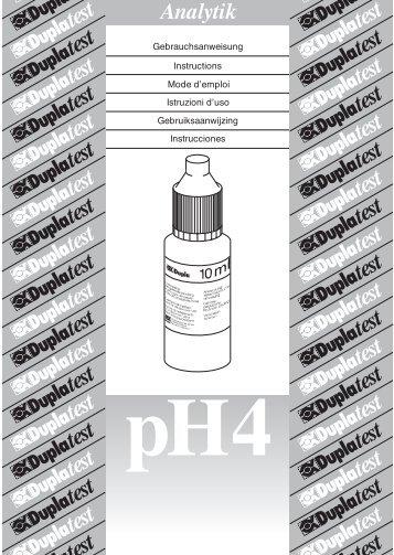 Duplatest pH 4 - Hawaiian Marine Imports