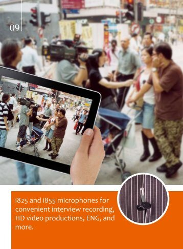 i825 and i855 microphones for convenient interview recording ... - HHb