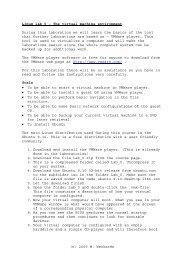 (c) 2009 M. Weckstén Linux lab 0 – The virtual machine environment ...