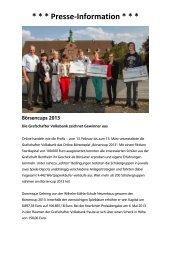 Sieger des Börsencups 2013 - Grafschafter Volksbank eG