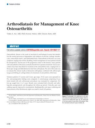 Knee Injury and Osteoarthritis Outcome Score (KOOS) - Orthopaedic Scores