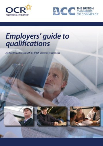 Employers' guide to qualifications