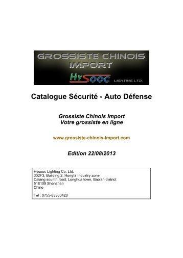 Catalogue Sécurité - Auto Défense - Grossiste chinois import