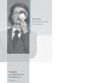 Vorgaben Druckdaten zu den Selfmailer-Varianten 1.1 bis 1.4 - Hidt.de