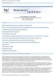 HGI-Newsletter 28 - Horst Görtz Institute for IT-Security - Ruhr ...