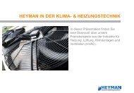 anwendungen aus der klima- & heizungstechnik - Heyman
