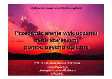 pomoc psychologiczna - Uniwersytet im. Adama Mickiewicza