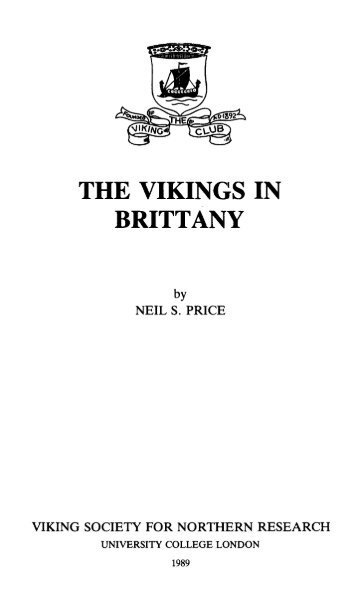 THE VIKINGS IN BRITTANY - Temple of Our Heathen Gods