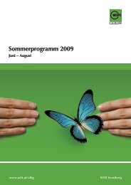 Sommerprogramm 2009
