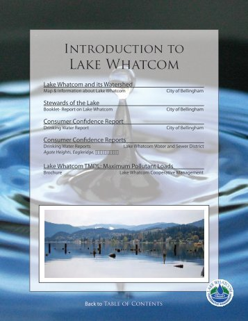 Introduction to Lake Whatcom - City of Bellingham, WA