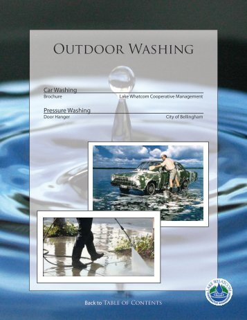 Outdoor Washing - City of Bellingham, WA