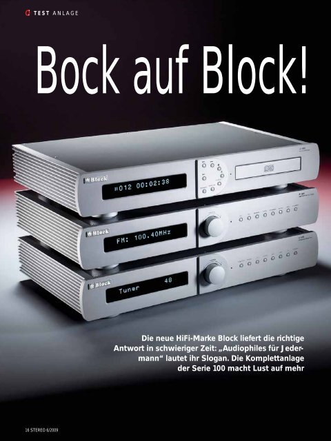 "STEREO ""Block Audio Serie 100"""