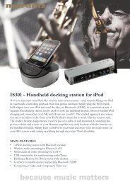 IS301 - Handheld docking station for iPod IS301 - Hifi Gear