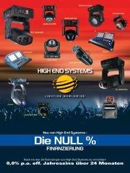 Die NULL % FINANZIERUNG - High End Systems
