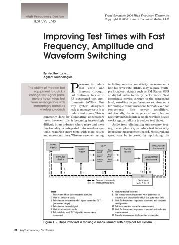 Improving Test Times with Fast Frequency, Amplitude and Waveform ...