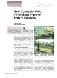 New Connector Field Installations Improve System Reliability