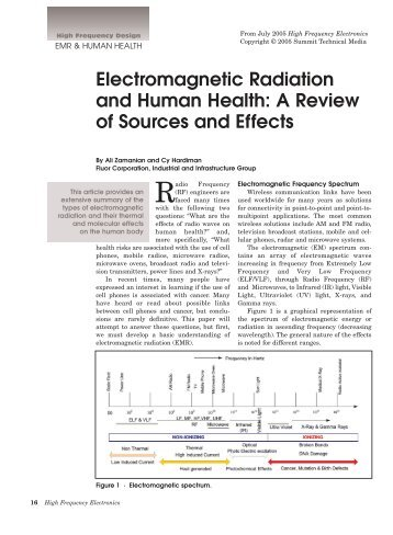 Electromagnetic Radiation and Human Health: A Review of Sources ...