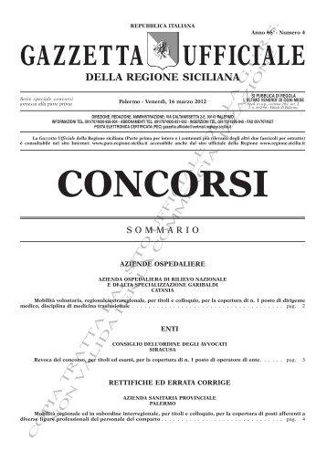 N. 4-Venerdì 16 Marzo 2012- Serie Concorsi(PDF) - Gazzetta ...