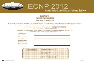 booth delivery ECNP - Food affairs