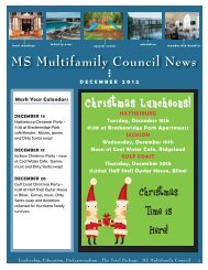 MS Multifamily Council December 2012