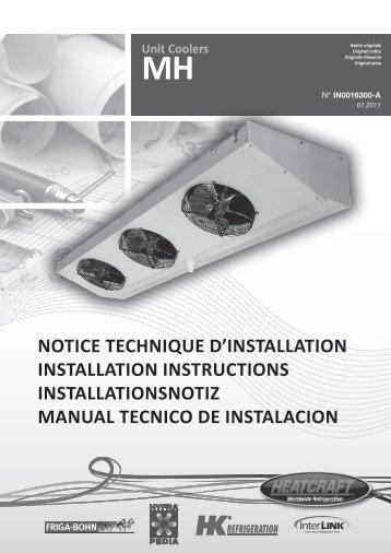 Unit Coolers MH NOTICE TECHNIQUE D'INSTALLATION ... - Europe