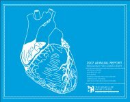 Henry Low Heart Center Annual Report, 2007 - Hartford Hospital!