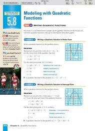 Modeling with Quadratic Functions - Beau Chene High School ...