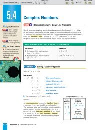Complex Numbers - Beau Chene High School Home Page