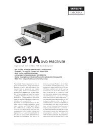 G91A DVD PRECEIVER - Audio Reference