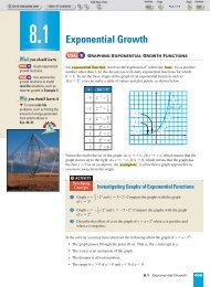 Exponential Growth - Beau Chene High School Home Page