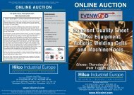 TO VIEW A FULL CATALOGUE VISIT - Hilco Industrial