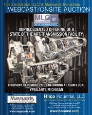 now on the auction block - Hilco Industrial