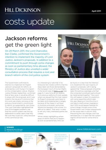 Costs update April 2011.indd - Hill Dickinson