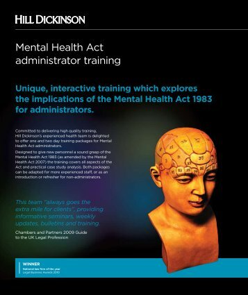 Mental Health Act administrator training - Hill Dickinson
