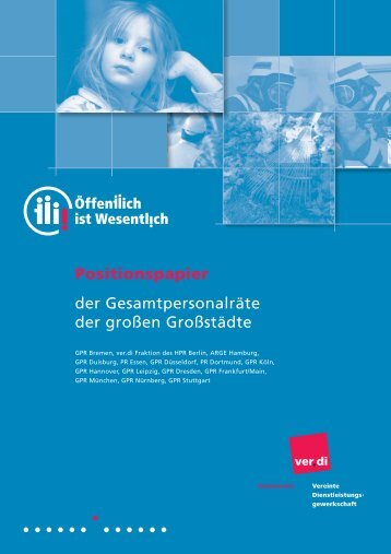 Positionspapier der Gesamtpersonalräte der ... - GPR - Bremen