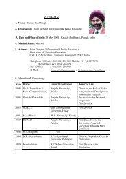 more info........ - CSK Himachal Pradesh Agricultural University