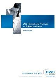DWS RiesterRente Premium im Spiegel der Presse