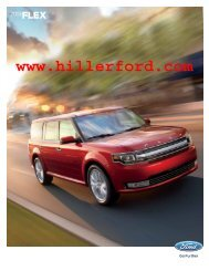 2013 Ford Flex Brochure - Hiller Ford Inc.