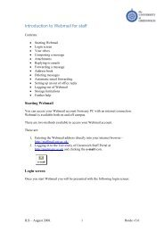 Introduction to Webmail for staff - University of Greenwich