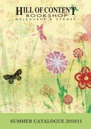 Summer Catalogue 2010-11 - Hill of Content Bookshop